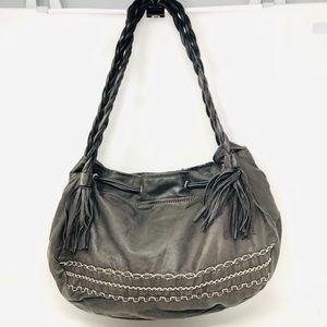 Like 🆕 slate grey leather hobo made in Italy